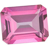 Emerald/Octagon Genuine Pure Pink Mystic Topaz