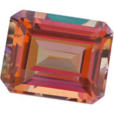 Emerald/Octagon Genuine Sunrise Mystic Topaz