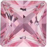 Square Genuine Baby Pink Topaz