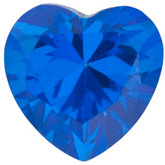 Heart Genuine Glacier Blue  Topaz