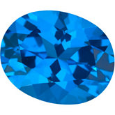 Oval Genuine Glacier Blue  Topaz