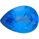 Pear Genuine Glacier Blue  Topaz