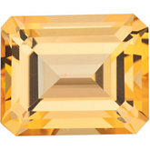 Emerald/Octagon Genuine Honey Topaz