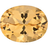 Oval Genuine Honey Topaz