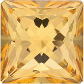 Square Genuine Honey Topaz