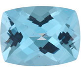Antique Cushion Genuine Ice Blue Topaz