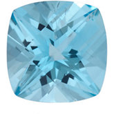 Antique Square Genuine Ice Blue Topaz