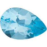 Pear Genuine Ice Blue  Topaz