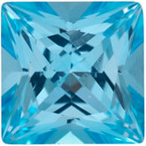 Square SWAROVSKI GEMSTONES™ Genuine Ice Blue Topaz
