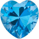 Heart Genuine Paradise Blue  Topaz
