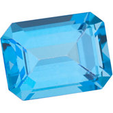 Emerald/Octagon Genuine Paradise Blue  Topaz