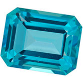 Emerald/Octagon Genuine Paraiba Topaz