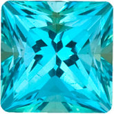 Square Genuine Paraiba  Topaz