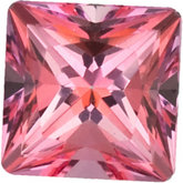 Square Genuine Pink  Topaz
