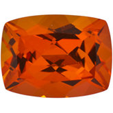 Antique Cushion Genuine Poppy Topaz