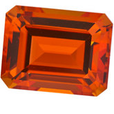 Emerald/Octagon Genuine Poppy Topaz