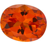 Oval Genuine Poppy Topaz