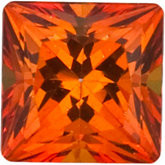 Square Genuine Poppy  Topaz