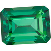 Emerald/Octagon Genuine Rainforest Topaz