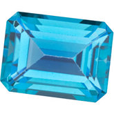 Emerald/Octagon Genuine Teal  Topaz