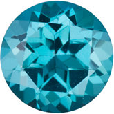 Genuine Topaz Passion - Round Faceted; Teal