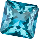 Square Genuine Teal  Topaz