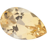 Genuine Topaz Precious - Pear Shape Faceted; AA Quality; Golden