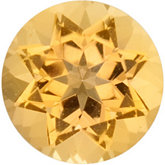 Round Genuine Golden Precious Topaz