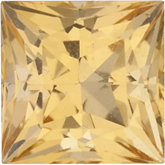 Genuine Topaz Precious - Square Princess; AA Quality; Golden