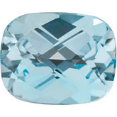 Antique Cushion Genuine Sky Blue Topaz