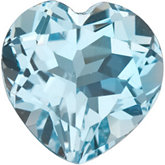 Heart Genuine Sky Blue Topaz