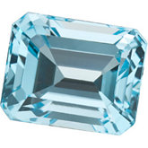 Emerald/Octagon Genuine Sky Blue Topaz