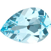 Pear Genuine Sky Blue Topaz