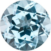 Round Genuine Sky Blue Topaz