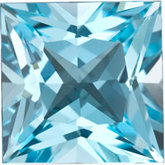 Square Genuine Sky Blue Topaz