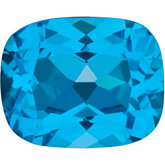 Antique Cushion Genuine Swiss Blue Topaz