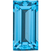 Straight Baguette Genuine Swiss Blue Topaz