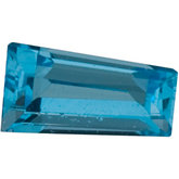 Tapered Baguette Genuine Swiss Blue Topaz