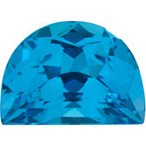 Halfmoon Genuine Swiss Blue Topaz