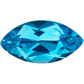 Marquise Genuine Swiss Blue Topaz