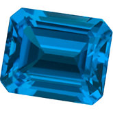 Emerald/Octagon Genuine Swiss Blue Topaz