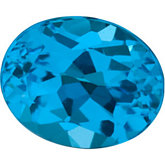 Oval Genuine Swiss Blue Topaz