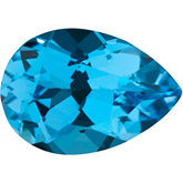 Pear Genuine Swiss Blue Topaz