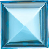 Square Genuine Cabochon Swiss Blue Topaz