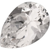 Pear Genuine White Topaz