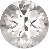 Round Genuine White Topaz