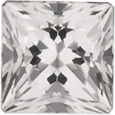 Signity® Genuine Topaz - Square Princess-Machine Cut White/non-Returnable; Good Quality; WHITE