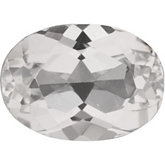 Oval SWAROVSKI GEMS™ Genuine White Topaz