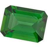 Emerald/Octagon Genuine Green (Chrome) Tourmaline