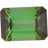 Emerald/Octagon Genuine Green Tourmaline